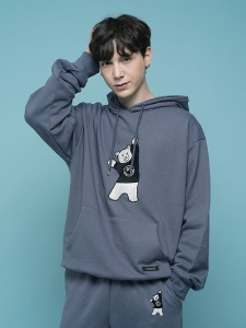 BEAR EMBROIDER HOODIE [DARK BLUE]