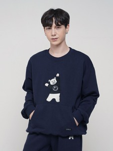 BEAR EMBROIDER MTM [NAVY]