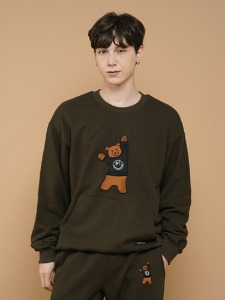BEAR EMBROIDER MTM [KHAKI]