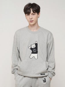 BEAR EMBROIDER MTM [GREY]